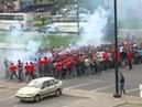 Russian football hooligans Spartak vs. Zenit part1