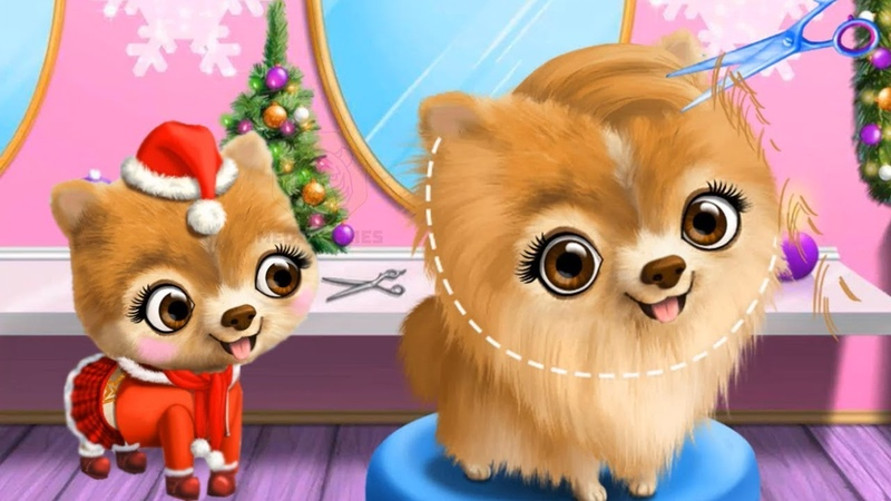 Fun Pet Care Game - Christmas Animal Hair Salon 2 – Play Santa Makeover Dress Up Games For Girls