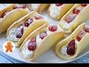 Бисквитные Пирожные с Клубникой ✧ Omelet Cake (English Subtitles)
