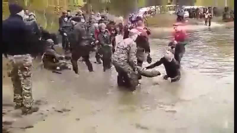 Necro_tv: При сдаче на краповый берет бойцы Росгвардии утонули в луже