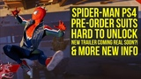 Spider Man PS4 News Pre order Suits HARD TO UNLOCK, Potential New Trailer Date &amp More (Spiderman PS4