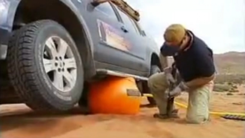 Пневматический домкрат для автомобиля