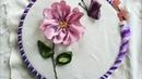 Hướng dẫn thêu ruy băng Bươm bướm và hoa [ Ribbon Embroidery]