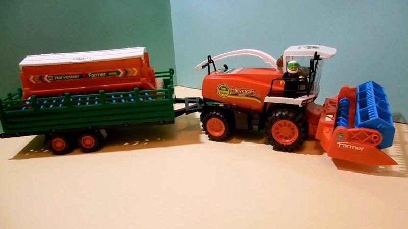 Tractor combine TOYS Lego Farm игрушки Комбайн Лего Трактор