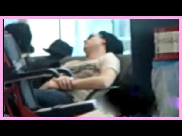 ADAM LAMBERT TAKES A NAP AT SYDNEY AIRPORT!!