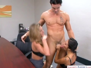 Asa Akira, Kayla Paige [Asian, Big Tits, Blow Job, Cum in Mouth, Cum Swapping, Deepthroating, Remastered, Shaved, Young]