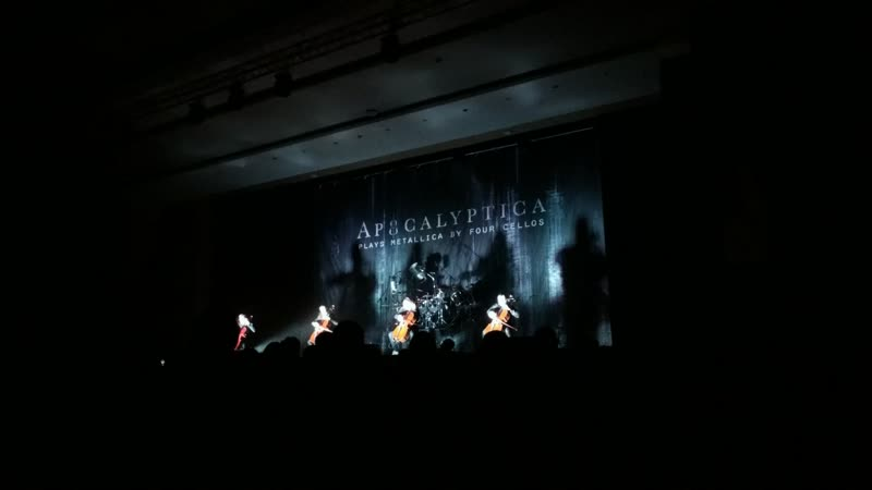Apocalyptica - Master of Puppets. Plays Metallica by Four Cellos tour (Красноярск, 3.04.2018)