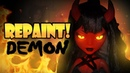 Repaint! Halloween Special Demon Girl OOAK Doll
