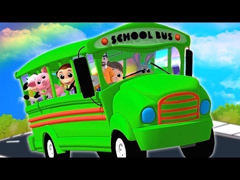 Колеса на автобусе | рифма для детей | детская поэма | Nursery Rhymes | The Wheels On The Bus