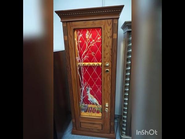 Элитный оружейный сейф витрина на 8 ружей Safeelit