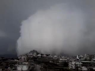 ..облако над горами сирийского побережья...فيديو لعبور سحابة الجرف جبال الساحل السوري