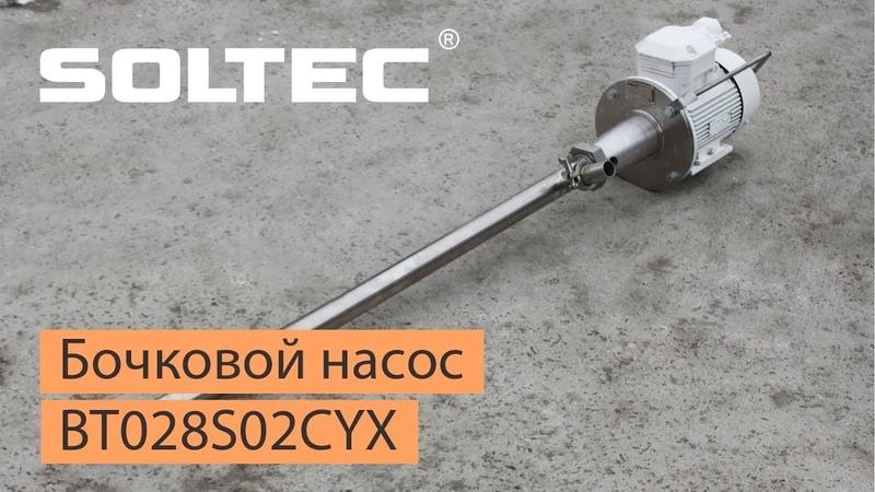Бочковой насос SOLTEC ® BT028S02CYX для перекачивания гудрона