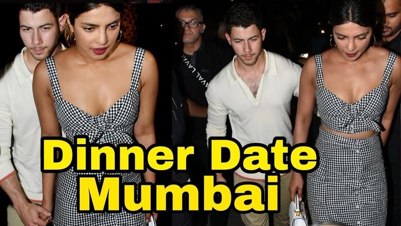 Priyanka Chopra and Nick Jonas Dinner date VIDEO in Mumbai
