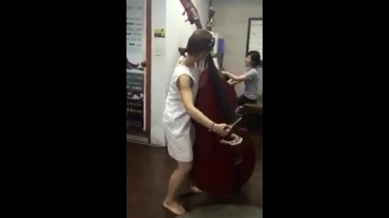 Bottesini elegy with my mom. Южная Корея. Музыкальная школа. ...ДЬ !