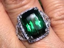 Olympic Gold Chrome Green Torumaline Diamond Ring Set In Solid 14K Up For Immediate Auction
