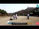 Vkook playing badminton