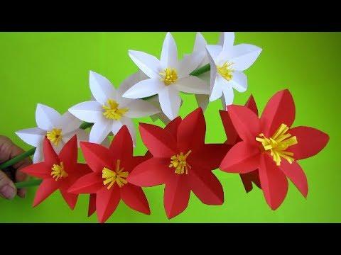 Paper Flower Stick DIY Paper Craft Handcraft DIY How to Make Beautiful Paper Flower Stick
