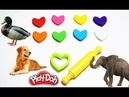 Learn colors with play doh for kids