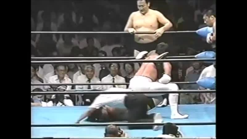 1996.09.05 - Akira Taue/Tamon Honda/Yoshinari Ogawa vs. Toshiaki Kawada/Masanobu Fuchi/Tsuyoshi Kikuchi [JIP]