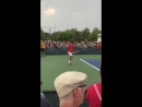 @DjokerNole takes the practice court and suddenly people forget there are 8 other matches on the grounds