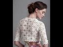 Кофточка из Мотивов Крючком - 2018 / Blouse of Motifs Crochet / Bluse mit Motiven Haken