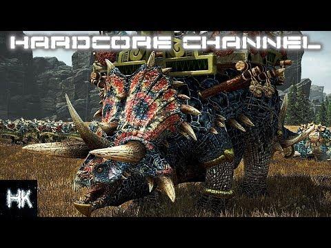 Total War Warhammer 2 - Империи смертных прохождение Hardcore Людоящеры =11= Центровой » Freewka.com - Смотреть онлайн в хорощем качестве