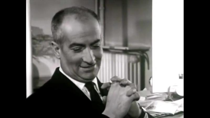 Интервью с Луи де Фюнесом, а так же съемки фильма Разиня (Франция, 24.10.1964) Interview de Louis de Funes. Русская озвучка.