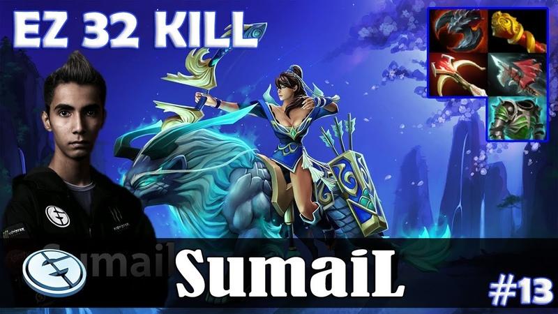 SumaiL - Mirana MID   EZ 32 KILL ULTRA KILL 7.19 Update Patch   Dota 2 Pro MMR Gameplay 13