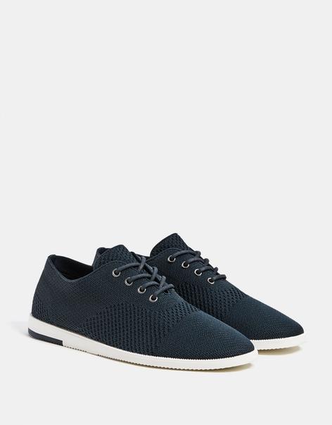 Синие туфли со вставками из сетки