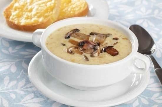 Грибной суп с сыром. Один из моих любимых!)