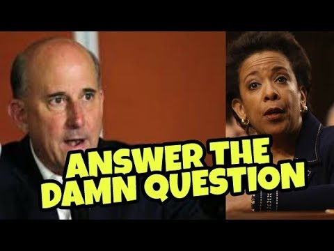 ANSWER THE DAMN QUESTION JUDGE GOMERT WIPES THE FLOOR WITH LORETTA LYNCH