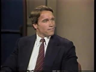Arnold schwarzenegger on late night, june 27, 1984 (eng)