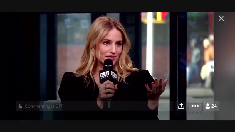 Weren't able to get the full interview but there you go with what we got from Dianna Agron at @BUILDseriesNYC on January 15, 201