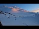 Вечерний закат на Эльбрусе