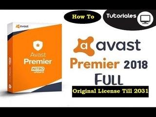 Avast Premier 2018 License Key Original Till 2031 [100% Working + Latest Version]
