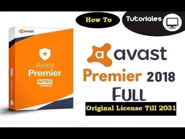 Avast Premier 2018 License Key Original Till 2031 [100% Working Latest Version]