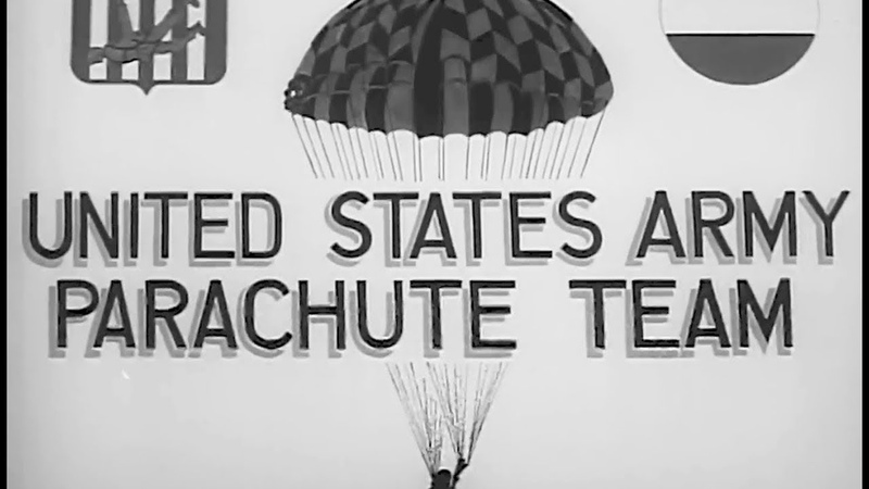 Army Parachute Team: Skydivers 1962 US Army; The Big Picture TV-554