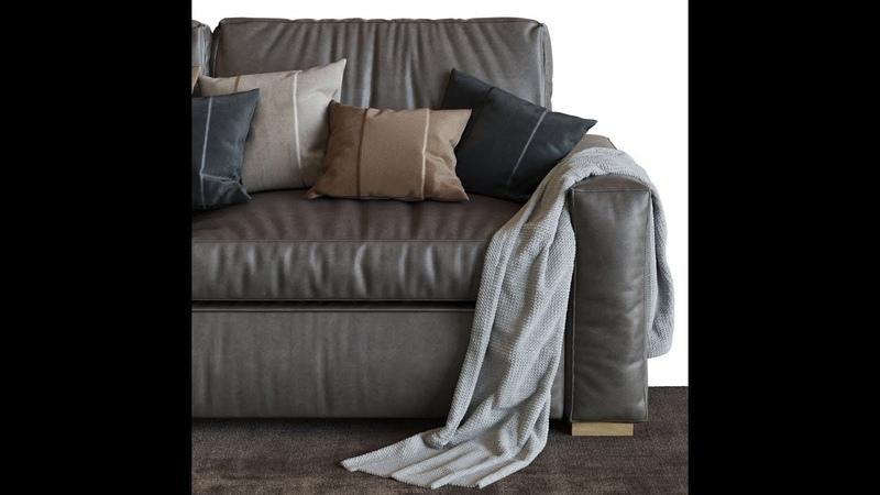 №13 Моделирование и визуализация дивана RH Maxwell Sofa