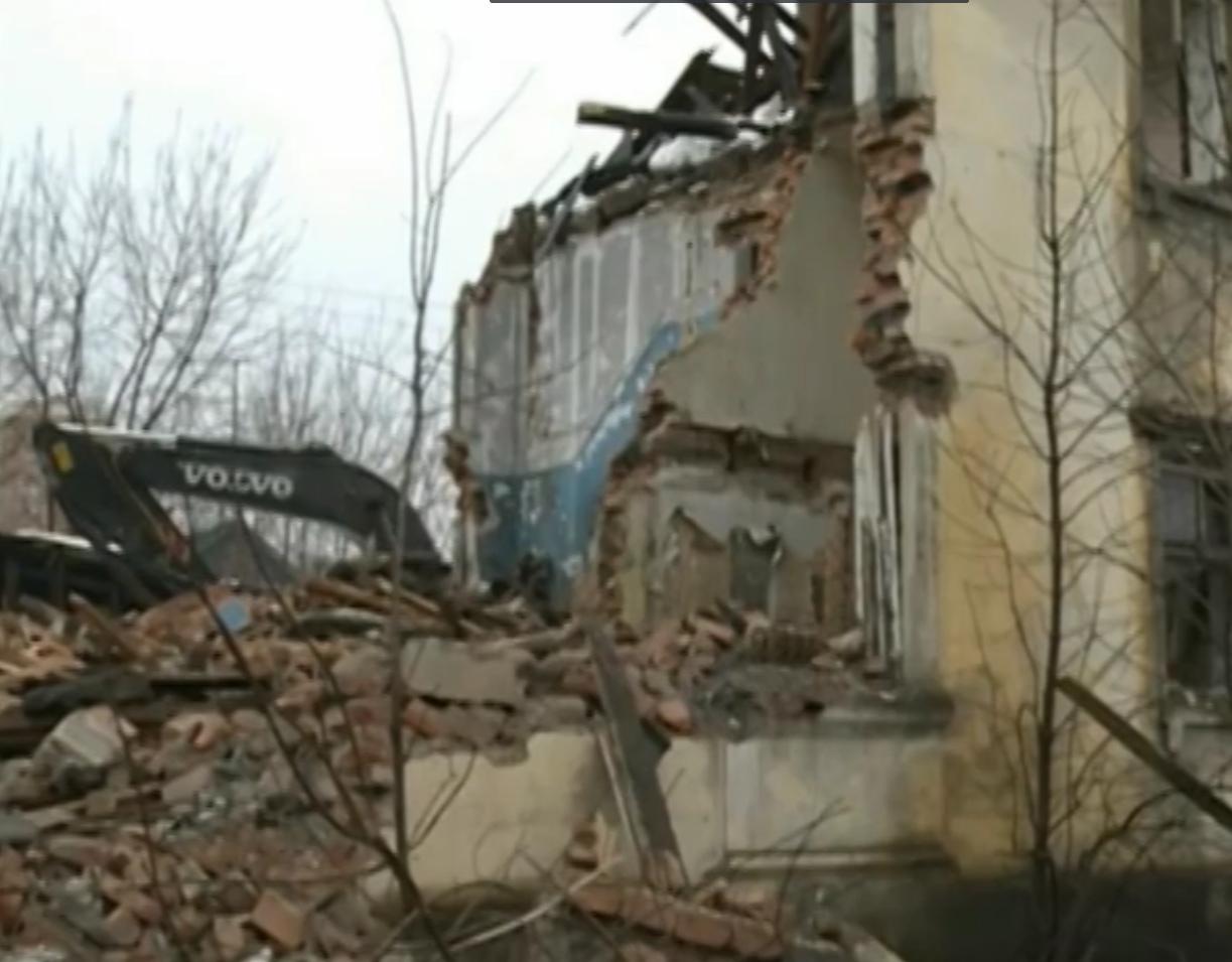 В Ярославле начались работы по сносу расселенных домов