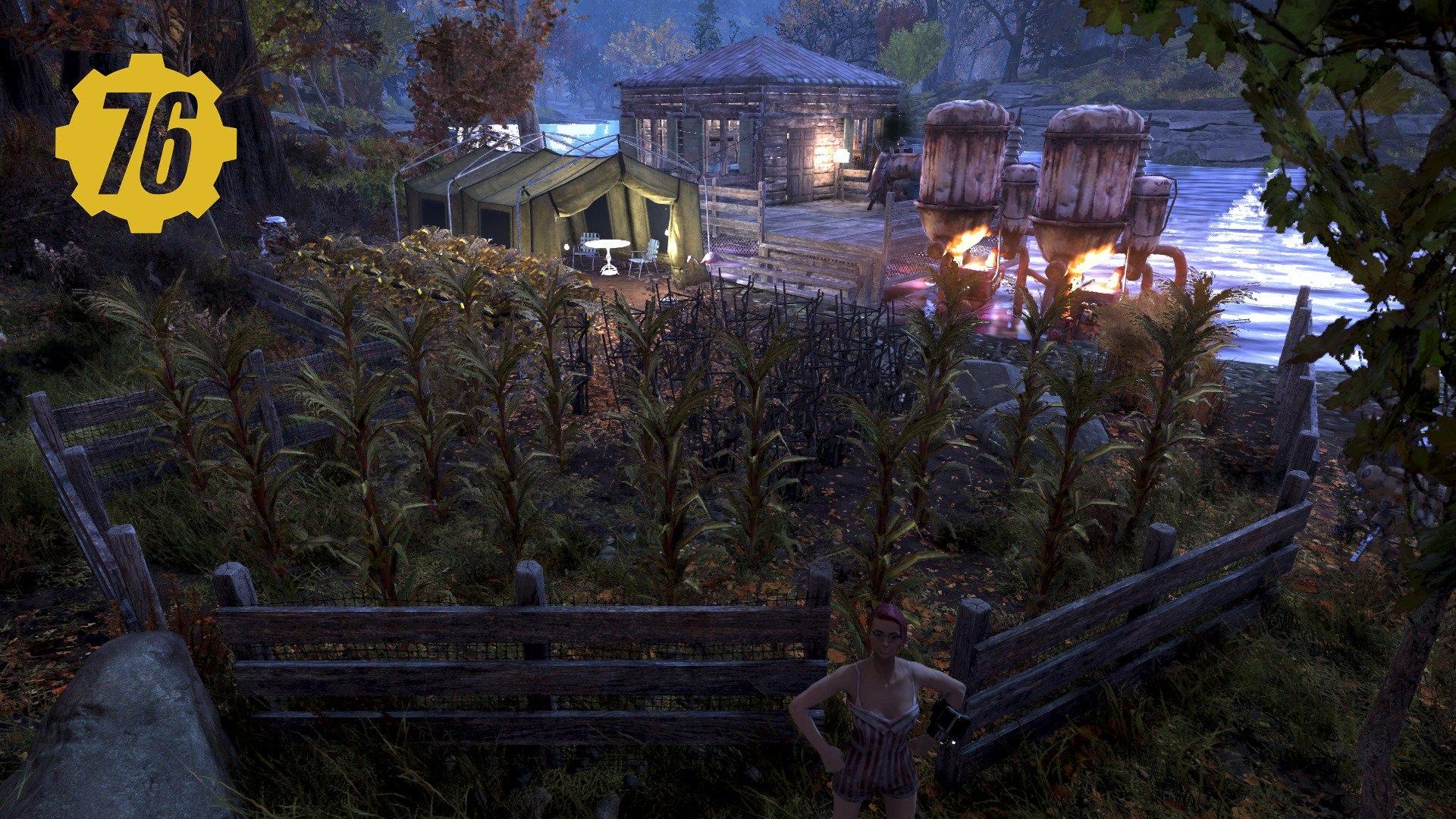 Уютная ферма, а что вы построили в Fallout76