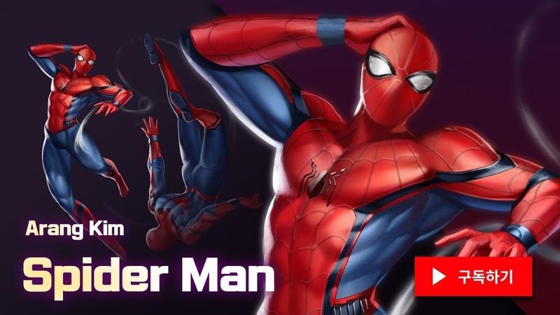 Speed Painting Spider Man Gwen 포토샵 스피드 페인팅 스파이더맨