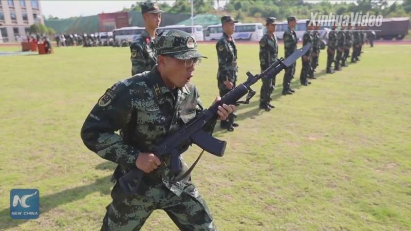 Вот как тренируется вооруженная полиция из провинции Цзянси!