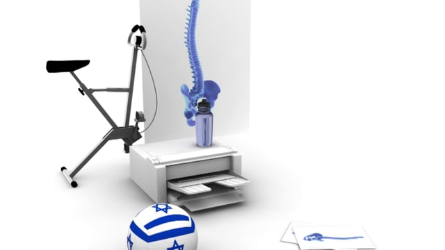 ISRAELI FOOTBALL COPIES SPINE EXERCISING ON A STATIONARY BIKE SUFFERING WITHOUT WATER BOTTLE