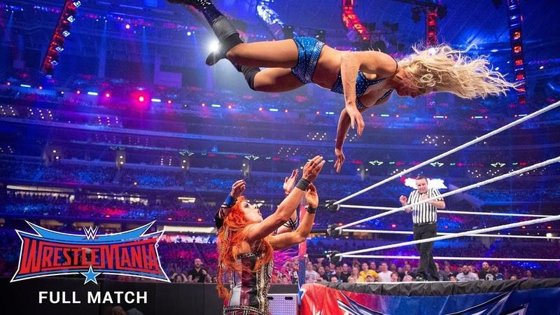 FULL MATCH - Flair vs. Banks vs. Lynch - WWE Womens Title Triple Threat Match WrestleMania 32