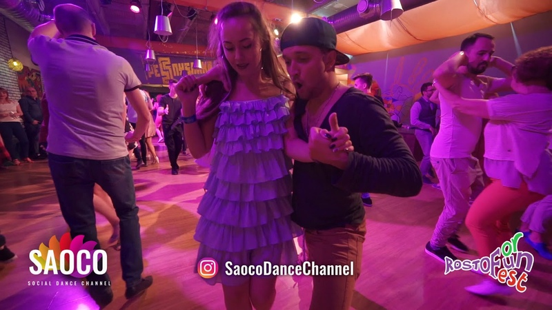 Nikita Poryadkov and Yuliya Rozhdestvenskaya Salsa Dancing at Rostov For Fun Fest Fri 02 11 18 SC