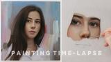 PORTRAIT PAINTING TIME-LAPSE Giorgia Oil on canvas