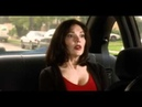 Laura Elena Harring hot cleavage show in red t-shirt in MULHOLLAND DR 2001