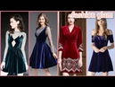 Gorgeous latest branded Velvet short frocks dresses for girls velvet mini dress for women's