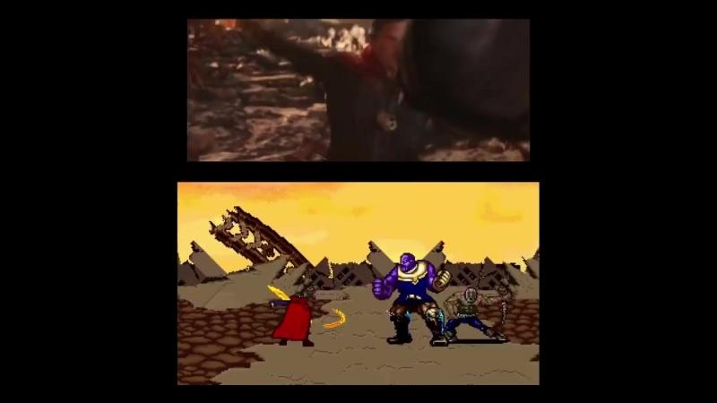 Avengers VS Thanos - 16 Bit Scenes