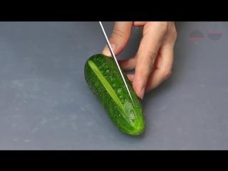 Огурцы закусочные Фаршированные огурцы Закуска из свежих огурцов за 5 минут Stuffed cucumbers